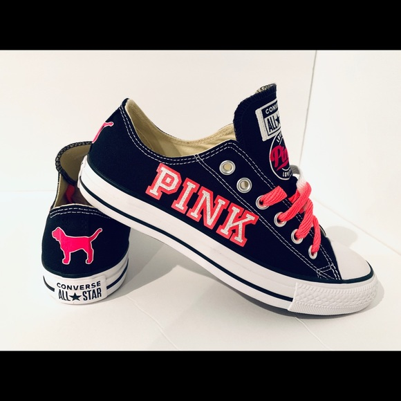 Secret Pink Shoes Custom Converse